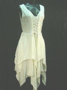 Chemise emboidery hippy boho bohemian Renaissance faire wedding dress size S/M