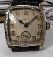 ELGIN orologio meccanico anni 40 cassa in Oro bianco 14 kt.