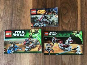 3 LEGO Bauanleitungen Star Wars - 75000, 75012, 75035