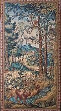 Verdure With Two Cheetahs And Pheasant Tapestry Wall Hanging Forest Scene 94x52