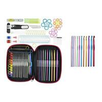 #QZO DIY Aluminum Crochet Hooks Sweater Knit Weave Craft Sewing Needles Set Kit