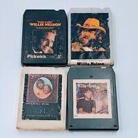 Vintage 8 Track Willie Nelson Waylon Jennings  LOT Of 4 Untested