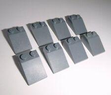 LEGO 2653 6 Basic pietre 1x4x1 con scanalatura in grigio chiaro da 8039 6752 6211 7637 7647