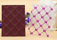 DIY Cards Decor Plastic Embossing Folder Template Mold Scrapbooking Paper Crafts