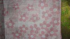Vintage Pink & White Floral Handkerchief