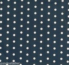 Stoff Baumwolle beschichtet, Swafing Leona, dunkelblau, weiße Punkte 6mm