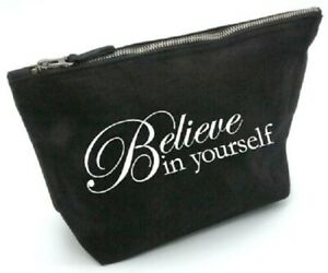 believe in yourself, gift, , cosmetic, pouch, organise, makeup, inspiration