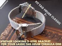 QUALITY S-STEEL BRACELET BAND STRAP WATCHBAND TO FIT  TAG HEUER FORMULA ONE F1