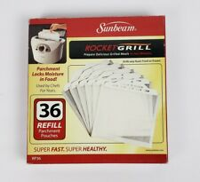 NEW Genuine Sunbeam Rocket Grill Parchment Pouches Refill Bags 36 Pack RP36