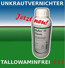 1L Unkrautvernichter Glyfos Classic TF  Roundup Glyfosat Zulassung Nr. 024162-00
