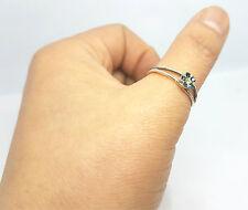 Fashion Women Sterling Silver Daisy Dark Flower Open Thumb Finger Ring Jewelry