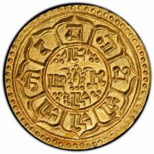 NEPAL 1903, Prithvi Bir Bikram 1881-1911, AV mohar Gold Coin SE1825. PCGS MS 65