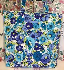 NWT Vera Bradley BlueBerry Blooms Work School Tote Shoulder Bag Purse Handbag