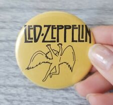 Vintage Led Zeppelin Button Pin 1970s 1980s