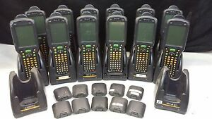 Lot of 12 HHP Barcode Scanners with Cradle Docking Stations & Extra Batteries