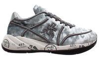 PREMIATA Scarpe Donna Sneakers Liu 3499 Tessuto Tecnico Argento Nuove