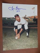 Leon Wagner, Los Angeles Angels autographed 8x10, Cleveland Indians