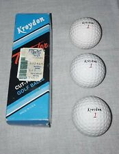 VINTAGE KROYDON THUNDER BOLT GOLF BALLS 1 SLEEVE LOT OF 3 BALLS UNUSED NOS