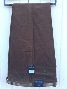 Gurteen Mens Corduroy Trouser 100% Cotton - Colour:- Brown - BNWT - 2020