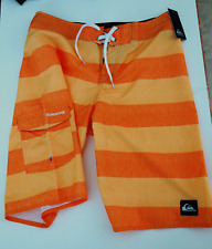 QUIKSILVER Shocking ORANGE BOARD SHORTS Swim Surf  40A65055 Men SIZE 30 NWT $64