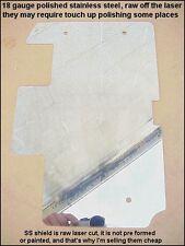2 New 84-99 Softail Rear Swing Arm Splash Shields Polished Stainless Flat Blank