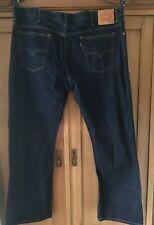 Dark Denim LEVI'S 517 Size W44 X L32 Cotton Straight Leg Jeans MINT!