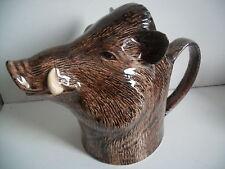 Fabulous Wild Boar  Ceramic Jug Great Hunting Gift Perfect