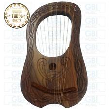 Lyre Harp10 strings Knot Design Rosewood with free key bag + string set
