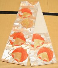Silk Fukuro Obi 436cm Long belt for kimono Women Japanese vintage sash /531
