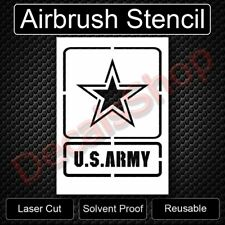 """US U.S. United States Army Square Reusable Airbrush Stencil Template 11""""x8.5"""""""