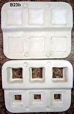 Vintage 1996 Magnolia Molds #M547 3 Square Trinket Box w/lids Ceramic Mold (B23b