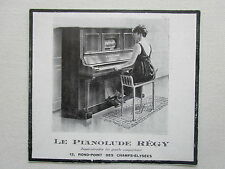 3/1925 PUB REGY PIANOLUDE PIANO MUSIQUE PIANISTE CLAVIER ORIGINAL FRENCH AD