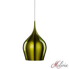 Lampada a sospensione ø 26 cm 1x60W Verde Alluminio Ovale Luci Soffitto Moderno