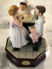 """San Francisco Music Box Company Norman Rockwell """"After The Prom"""" Music Box"""