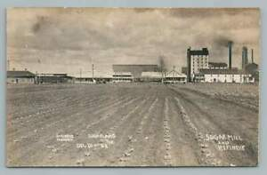 Sugar Mill Refinery& Train Depot SUGARLAND TX Photo RPPC Houston Schlueter 1908