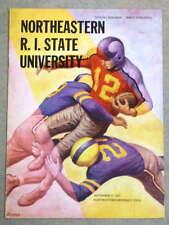R.I. STATE @ NORTHEASTERN COLLEGE FOOTBALL PROGRAM - 1955 - EX/NM SHAPE