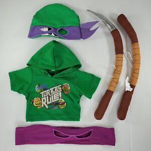 Build A Bear Teenage Mutant Ninja Turtles Donatello Bo-Staff Shirt Hat/Mask