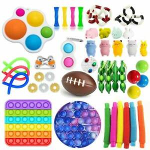 44PACK Figet Toys Anti Stress Toy Set Sensory Antistress Relief Toys Adults Kids