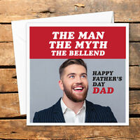 Personalised Handmade Happy Fathers Day Card Photo Dad Birthday Daddy Funny Rude