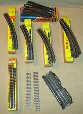 N Scale Atlas Trix Model Train Track Lot - Curves, Straight, Trestle, Rerailers