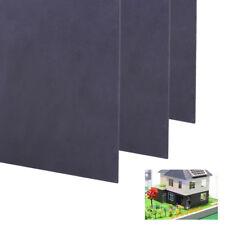 Black ABS Plastic Flat Sheet Plate for Sand table model scene 30x20x0.1cm