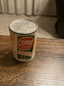 Vintage Mail Sample COMET TIN Cardboard w/ Metal Top & Bottom Unopened Mini RARE