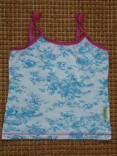 Mädchen Claesen's Top Unterhemd Gr.104 110 weiß neon pink Trägershirt Oberteil