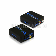 Digital Coaxial SPDIF Optical Toslink to Analog RCA 3.5mm Stereo Audio Converter