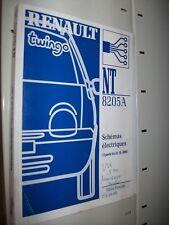 schémas électriques Renault TWINGO 2001 2002 NT8205