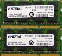 Crucial memory 16GB kit DDR3 PC3-12800,1600MHz for 2011/2012 Apple Mac Mini's