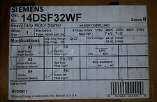 14DSF32AF Size 1 Starter w/ Stainless Enclosure Motor Starter Siemens **NEW**