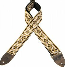 Levy's Guitar Strap VINTAGE White Gold Diamond Woven Tapestry Levys M8HTV-07 Ace