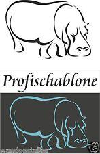 Wandschablonen, Schablone, Malerschablone, Afrikamotive - Nilpferd Grösse L-XXL