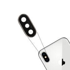 Para Apple iPhone X Rear Back Cámara Lente Vaso Cubrir Zafiro Plata Reemplazo